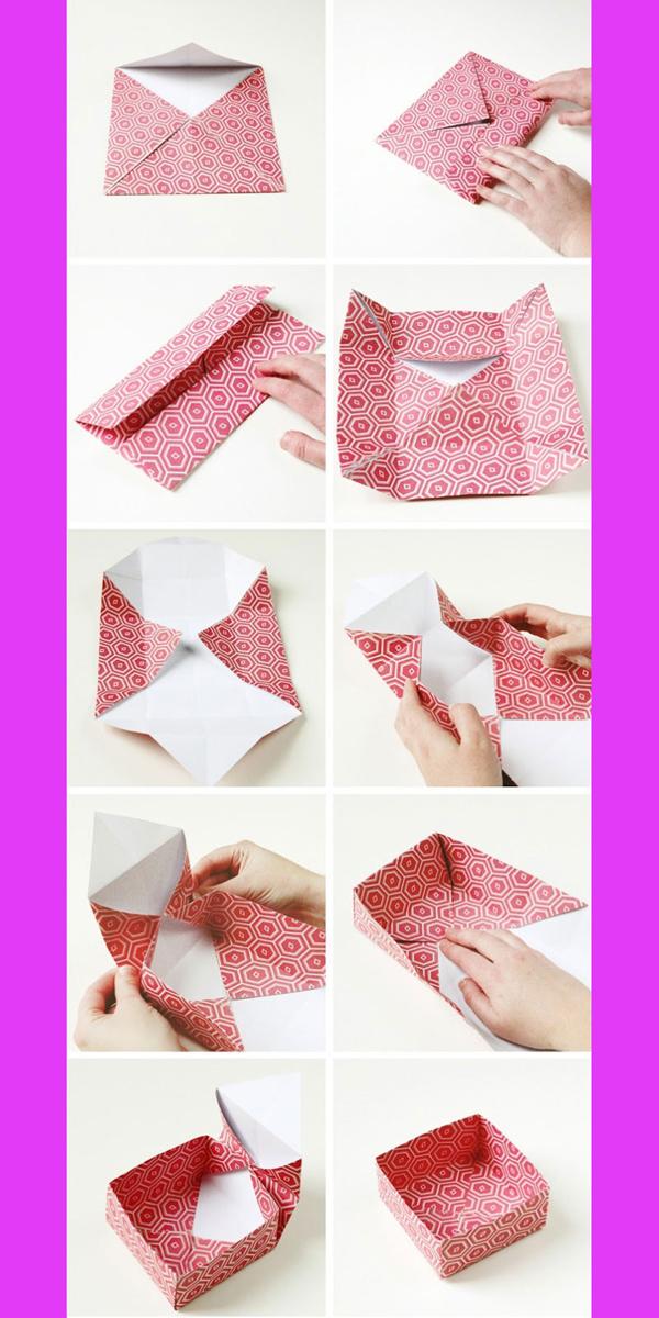 caixa em papel passo a passo