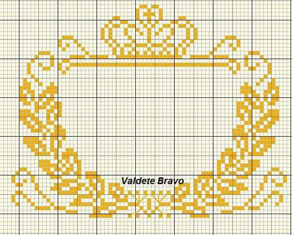 Coroa de ponto cruz brasao