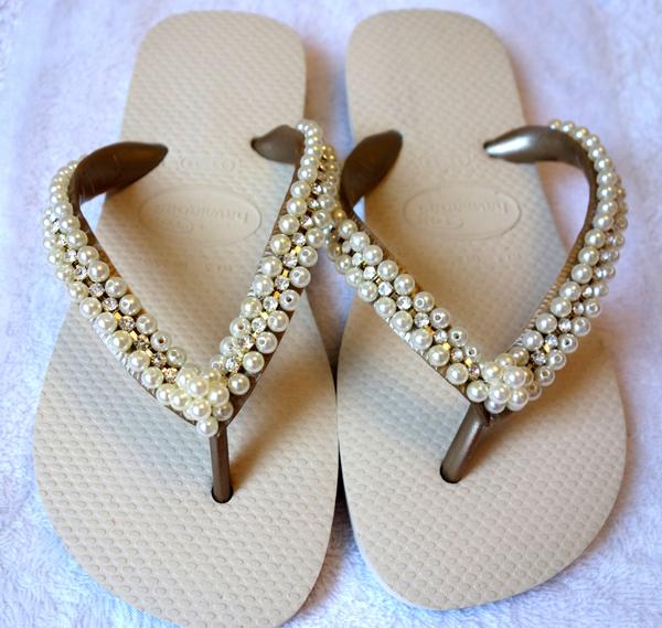 chinelos decorados simples