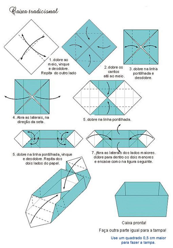 caixa em papel simples