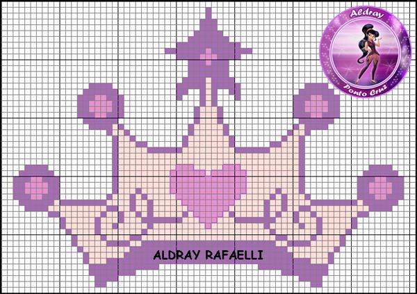 Coroa de ponto cruz com estrela