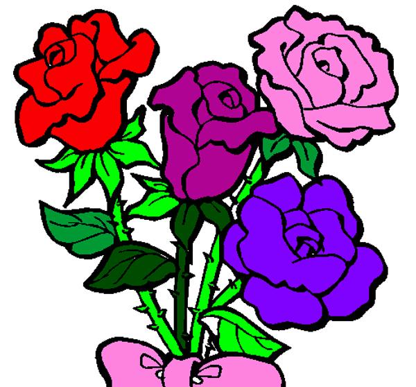 desenhos de flor buques