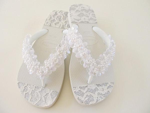 chinelos decorados para noivas