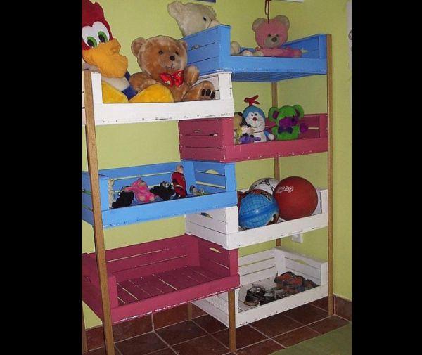 organizador para brinquedos com caixotes