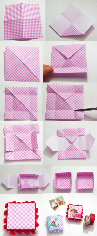 caixa em papel kraft