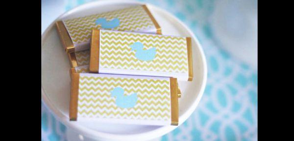 lembrancinha para maternidade barra chocolate