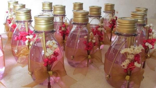 lembrança com aromatizador de ambiente flores