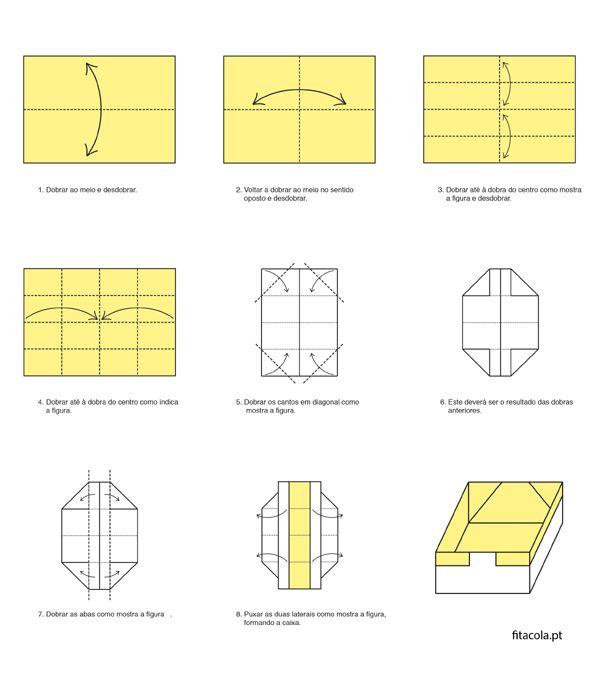 caixa em papel dobrada