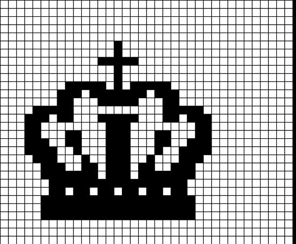 Coroa de ponto cruz simples