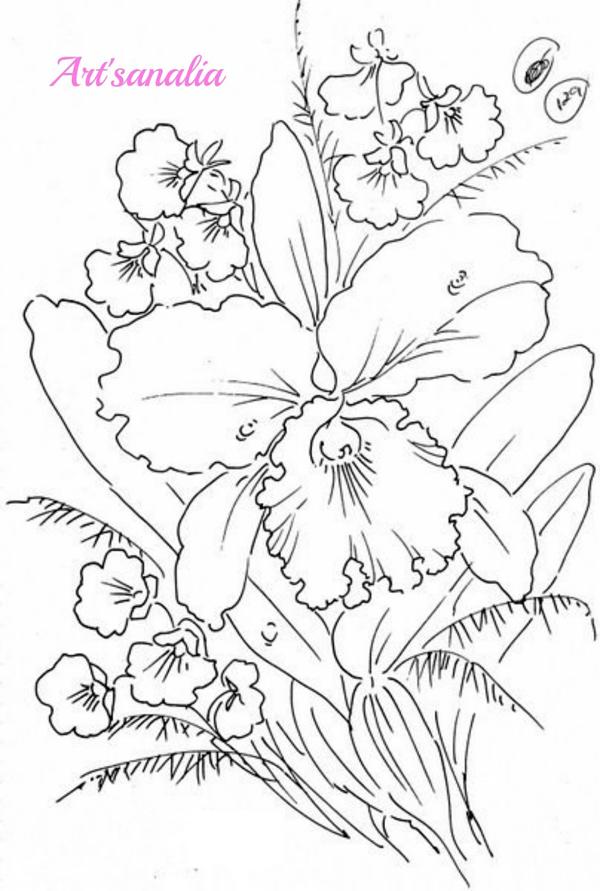 desenhos de flor orquidea