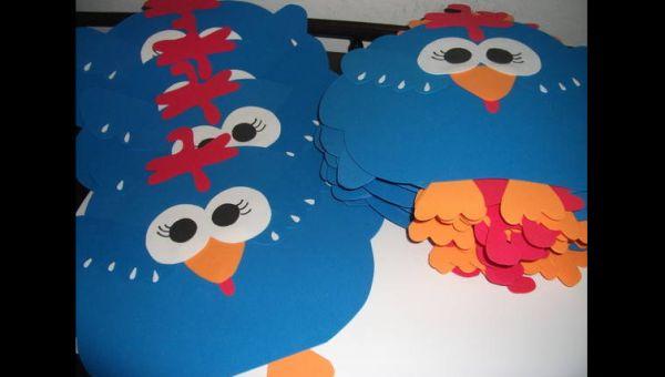 jogo americano de EVA galinha pintadinha