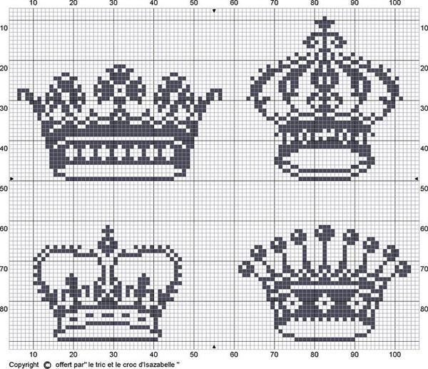 Coroa de ponto cruz diversas