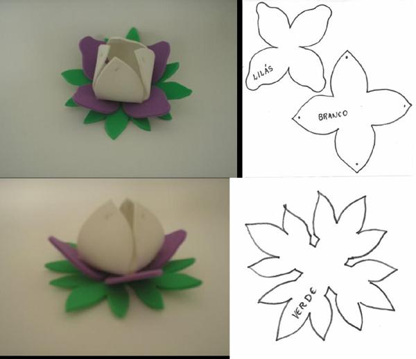 porta bombom em eva de flor orquidea