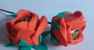 Flor Porta Bombom em EVA: Fotos e Moldes