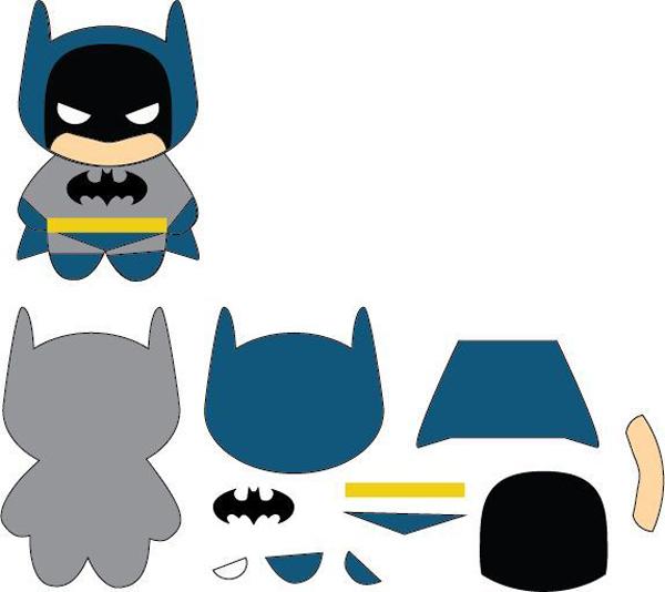 super herois em feltro batman