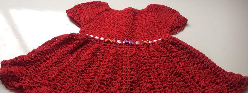 Vestido de Crochê para Bebê com Gráfico - Artesanato Passo a Passo! f19efe7f785