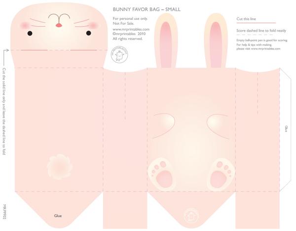 caixa em papel coelho