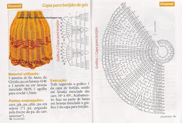 capa de bojão de crochê tutorial