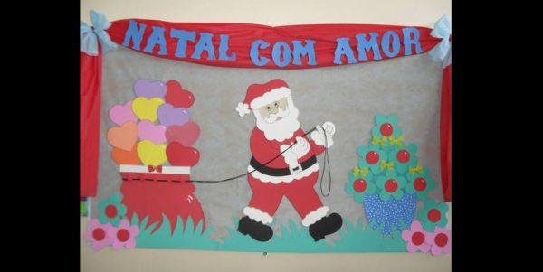 painel escolar de Natal com eva