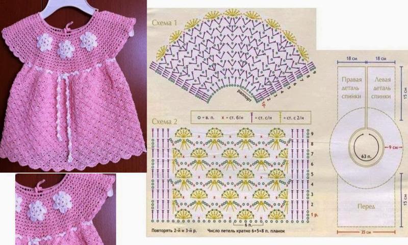 vestido de crochê infantil como fazer