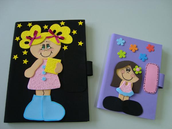 caderno com eva com fecho