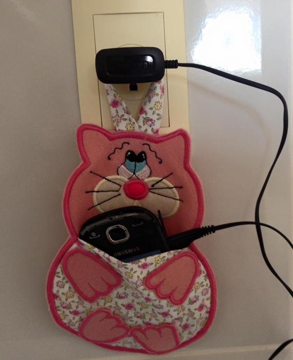porta carregador de gato