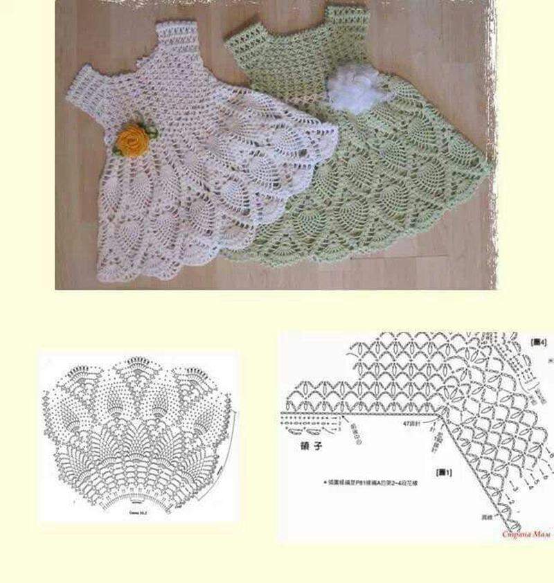 como fazer vestido de crochê infantil