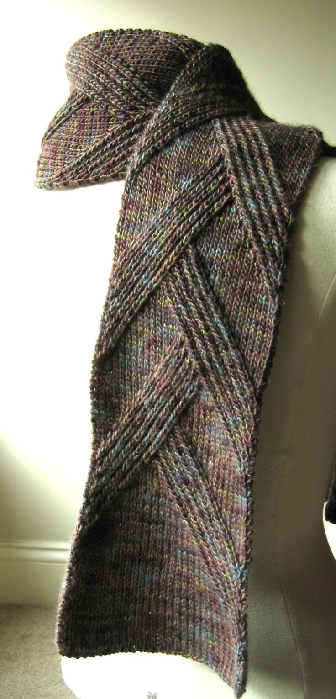cachecol com tricô comum