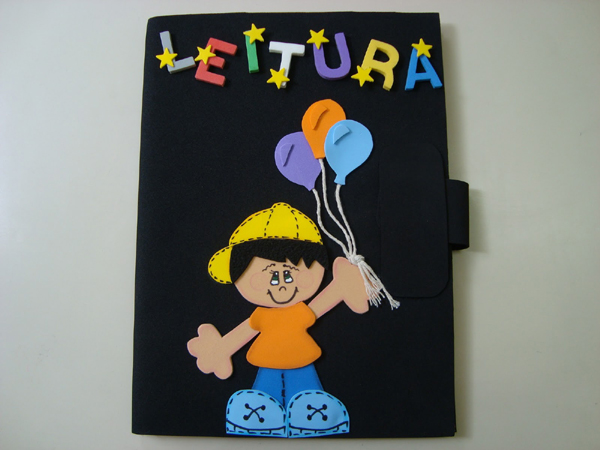 caderno com eva leitura