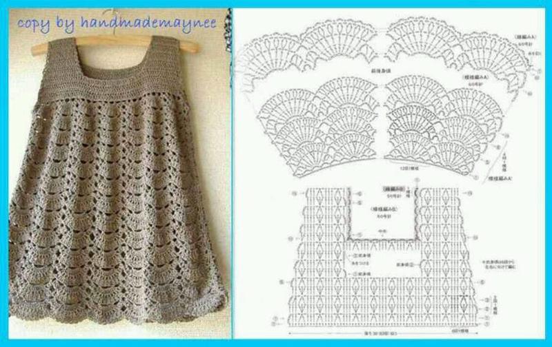3321be50f9d5 vestido de crochê infantil com receita vestido de crochê infantil com  grafico