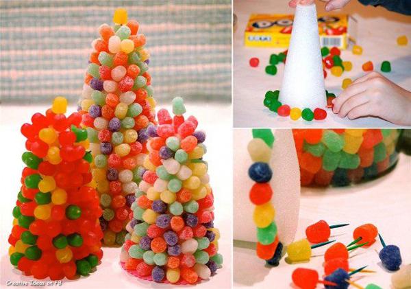 arvore de natal com balas goma