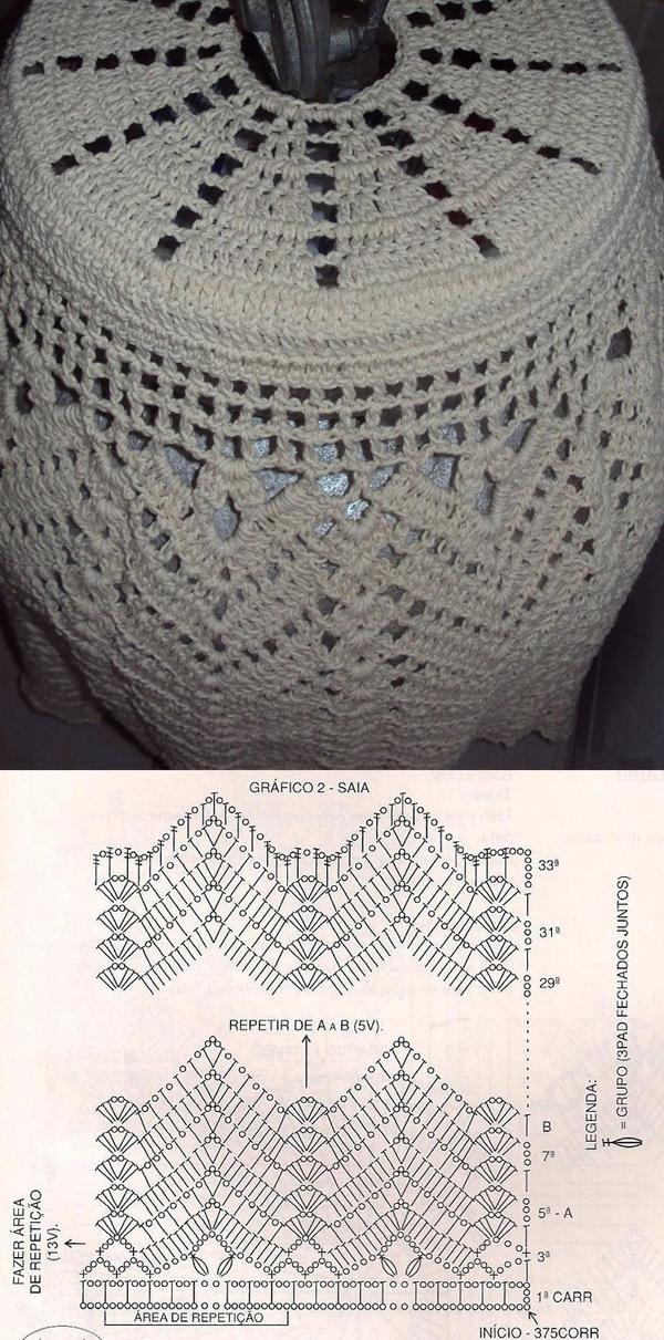 capa de bojão de crochê de barbante