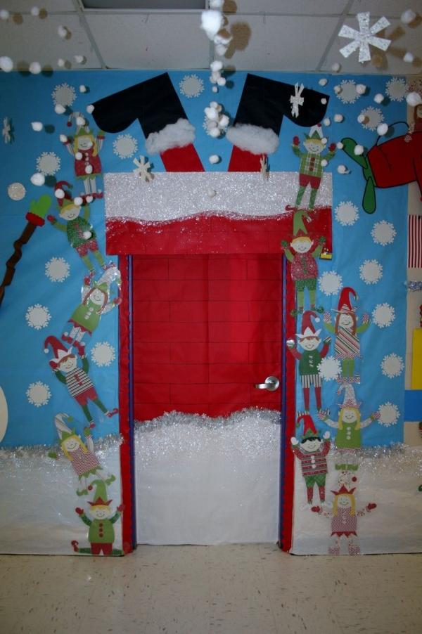 painel escolar de Natal na porta