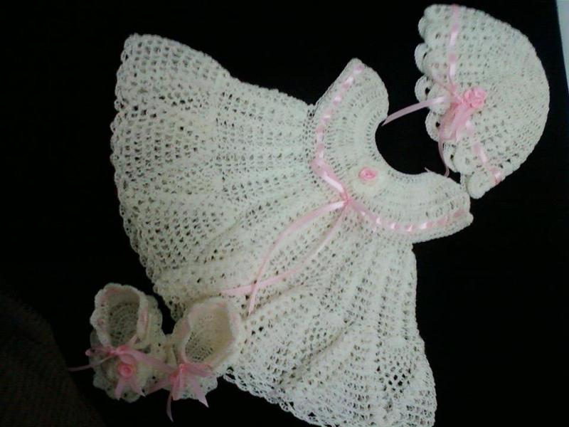 vestido de crochê infantil para batizado