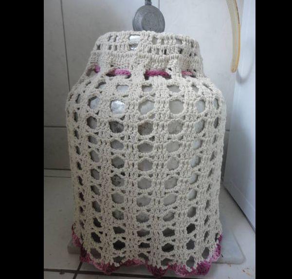 capa de bojão de crochê simples