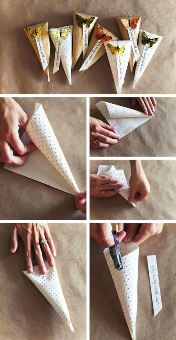 cone em papel fofo