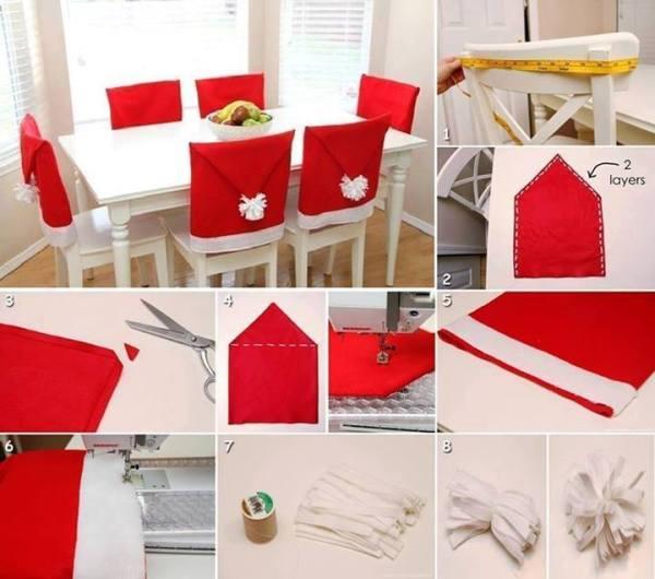 enfeite natalino para cadeira