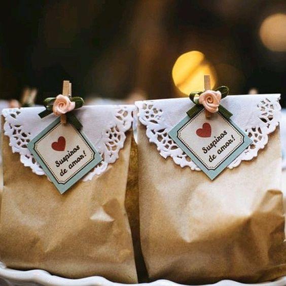 lembrança de casamento saco de papel