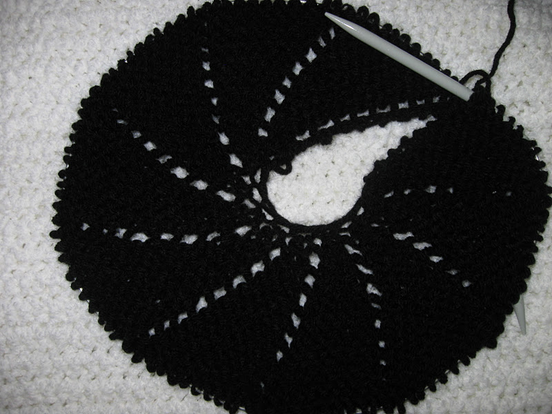 como fazer boina em tricô