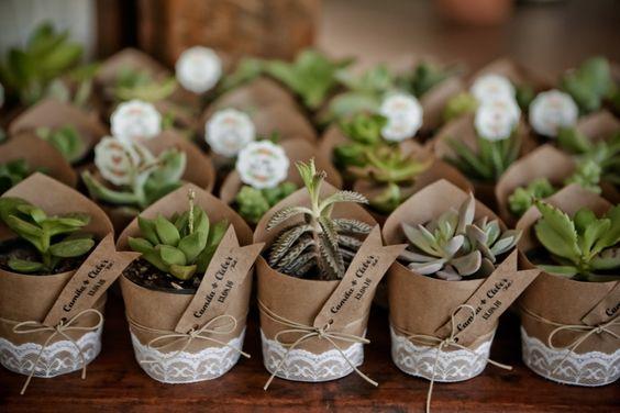 lembrança de casamento vaso papel