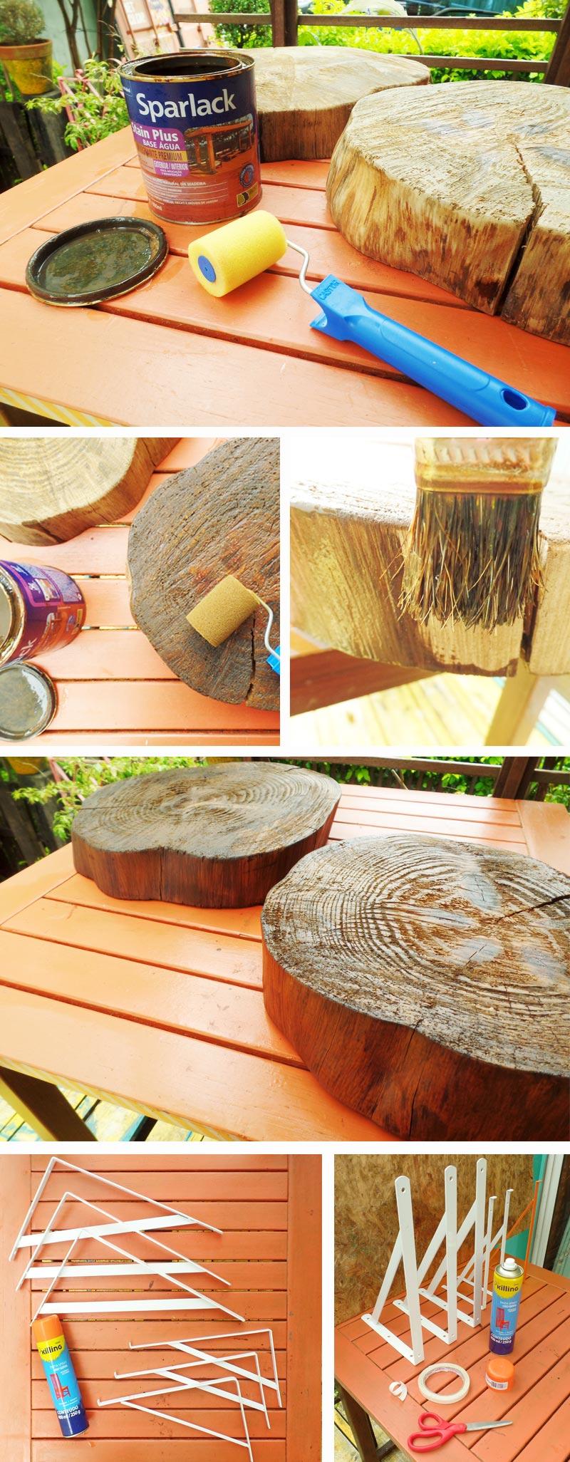 passo a passo de mesa com madeira