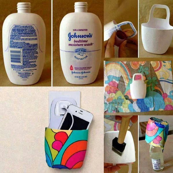 porta carregador de embalagem de shampoo