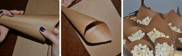 cone em papel pardo