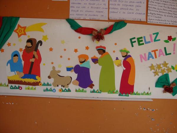 painel escolar de Natal simples