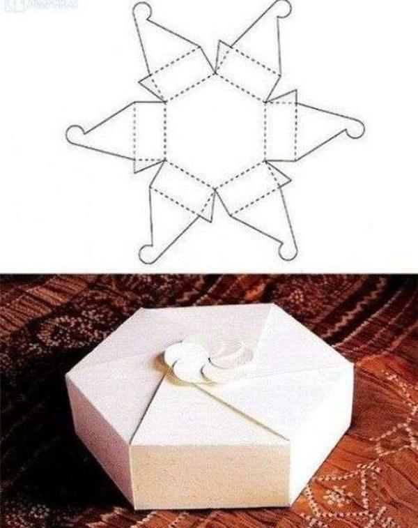 caixa em papel para imprimir