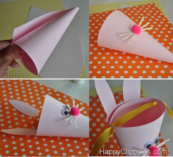 cone em papel coelho