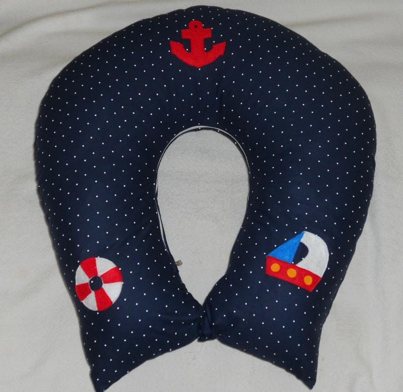 Almofada para amamentação navy