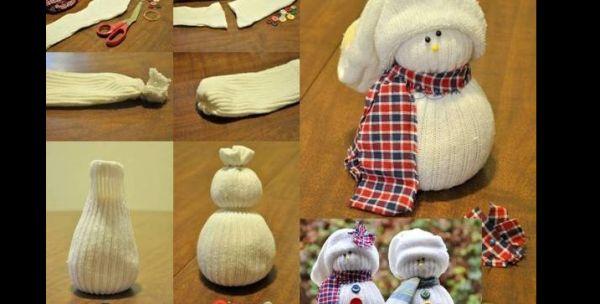 enfeite natalino com meia