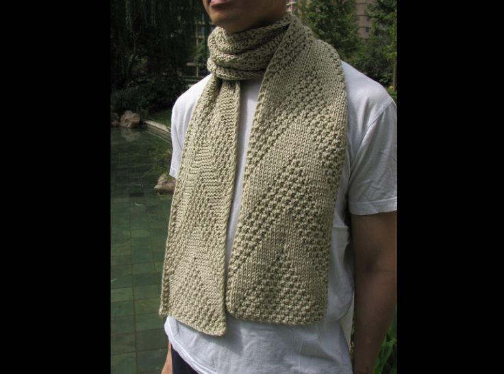 cachecol com tricô para homem