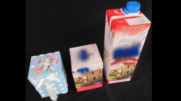 lembrança com caixa de leite facil